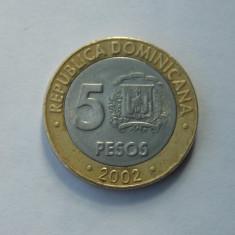 5 PESOS 2002 REPUBLICA DOMINICANA