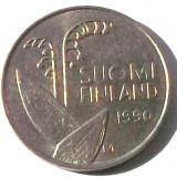G5. FINLANDA 10 PENNIA 1990, 1.80 g., Copper-Nickel, 16.3 mm LACRAMIOARE **, Europa