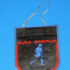 FANION DE COLECTIE TURNEU INTERNATIONAL DE FOTBAL STEAUA BUCURESTI 23-24 IULIE 1988 (01184) - Fanion fotbal