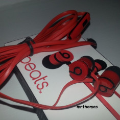 Monster Beats Tour by dr dre urbeats - Casti rosii Monster Beats by Dr. Dre, Casti In Ear, Cu fir, Mufa 3, 5mm