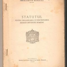 Statutul pentru organizarea si functionarea bisericii ortodoxe*1949