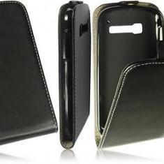 Husa Alcatel One Touch Pop C5 OT-5036D Flip Case Inchidere Magnetica Black - Husa Telefon Alcatel, Negru, Piele Ecologica, Cu clapeta, Toc