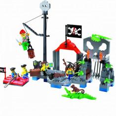 Corabia Adventure, joc constructie tip Lego cu Pirati - 206 piese - Set de constructie