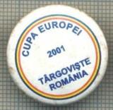 1511 INSIGNA SPORTIVA -CUPA EUROPEI 2001 TARGOVISTE ROMANIA -starea care se vede