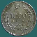 TURCIA KM#997   1000 Lira 1991