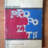 T Propozitii- Mircea Carloanta - Roman, Anul publicarii: 1970