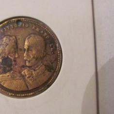 CY - Medalie Italia (Roma) 1896 casatorie Elena - Vittorio Emanuele/ brosata