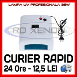 Cumpara ieftin LAMPA UV 36W PROFESIONALA, MANICHIURA UNGHII FALSE GEL UV - 4 BECURI 9W INCLUSE