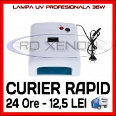 LAMPA UV 36W PROFESIONALA, MANICHIURA UNGHII FALSE GEL UV - 4 BECURI 9W INCLUSE