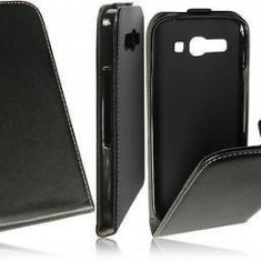 Husa Alcatel One Touch Pop C9 OT-7047D Flip Case Inchidere Magnetica Black - Husa Telefon Alcatel, Negru, Piele Ecologica, Cu clapeta, Toc