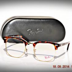 Rame de ochelari Ray ban RB5154 2372 Clubmaster - Rama ochelari Ray Ban, Unisex, Negru, Rama intreaga