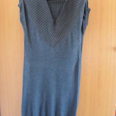ROCHIE TRICOTATA ORIGINALA MANGO CASUAL SPORTSWEAR CU SERIA RN#115455 - Rochie tricotate, Culoare: Gri, Marime: L, Gri, L, Midi