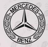 Mercedes Logo_Sticker Auto_Tuning_CDEC-027-Dimensiune: 15 cm. X 15 cm. - Orice culoare, Orice dimensiune