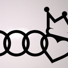 Audi King_Sticker Auto_Tuning_CDEC-002-Dimensiune: 10 cm. X 6 cm. - Orice culoare, Orice dimensiune