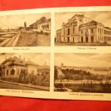 Ilustrata Turnu Severin - 4 imagini 1937, circ. - Carte Postala Banat dupa 1918