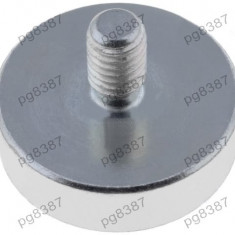 Magnet fix, neodim, 25x7mm, filet exterior M6, Elesa+Ganter - 050551