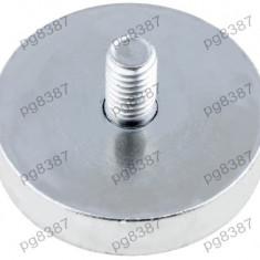 Magnet fix, neodim, 32x7mm, filet exterior M6, Elesa+Ganter - 050552
