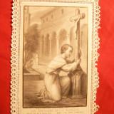 Iconita Franta ,catolica ,cu marginile dantelate 1944 rugaciune