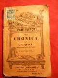 Din Cronica lui Gh.Sincai ,interbelica , prefata P.Popovici - BPT nr 697