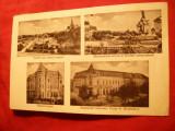 Ilustrata Turnu Severin - 4 imagini 1937 , circulat ,Ed. PP Maldarescu