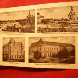 Ilustrata Turnu Severin - 4 imagini 1937, circulat, Ed. PP Maldarescu - Carte Postala Banat dupa 1918