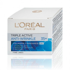 Cremă de față L'Oreal Paris Triple Active Anti-Wrinkle 35+ Day, Mixt