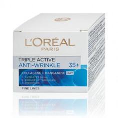 Cremă de față L'Oreal Paris Triple Active Anti-Wrinkle 35+ Day, Mixt