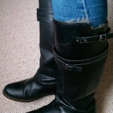 Cizme negre Zara piele naturala 36