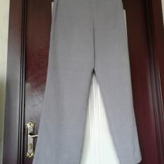 Pantaloni lungi dama din stofa plusata- CHARLES VOGELE - Pantaloni dama, Marime: 42, Culoare: Gri