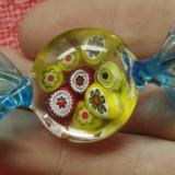 Bibelou - bomboana din sticla colorata - arta Murano  !!!!!