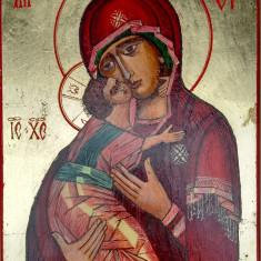 ICOANE pictate pe lemn: Maica Domnului Hodighitria (Povatuitoarea), Iisus Hristos Pantocrator (Atotputernicul). Stil bizantin. Cadou de Paste, oferta - Icoana pe lemn