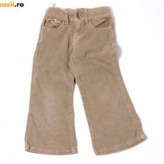 Pantaloni raiati bej, marca Zara girls, fetite 2 ani, Culoare: Verde, Fete