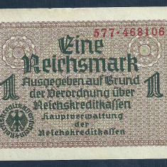 GERMANIA NAZISTA 1 MARCA MARK 1939 1940 1945 [7] VF, Cu zvastica ! - bancnota europa