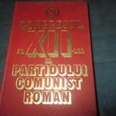 CONGRESUL AL XII-LEA AL PARTIDULUI COMUNIST ROMAN