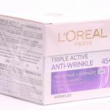 Cremă de față L'Oreal Paris Triple Active Anti-Wrinkle 45+ Day
