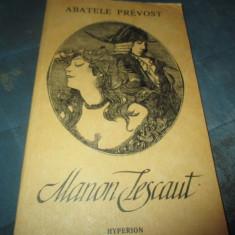 ABATELE PREVOST - MANON LESCAUT - Roman