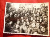 Fotografie- Grup Militari la Uzina Hidroelectrica Resita 1935