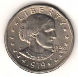SV * SUA  Statele Unite  ONE  DOLLAR  1979  Susan B. Anthony (1820-1906)     UNC, America de Nord