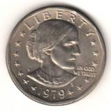 SV * SUA  Statele Unite  ONE  DOLLAR  1979  Susan B. Anthony (1820-1906)     UNC