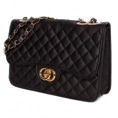 Geanta Dama Chanel, Culoare: Negru, Marime: One size, Geanta de umar, Asemanator piele