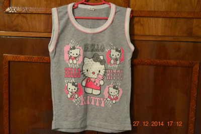 Costumas Hello Kitty gri foto