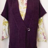 Vesta mov tricotata L/XL