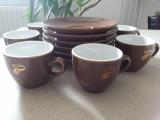 """Serviciu de cafea """"Eduscho,""""din portelan , 6 cesti cu 6 farfurioare"""
