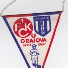 Fanion fotbal UNIVERSITATEA CRAIOVA - FC KAISERSLAUTERN 16.03.1983