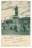 2725 - CONSTANTA, statue Ovidiu, Litho - old postcard - used - 1900, Circulata, Printata