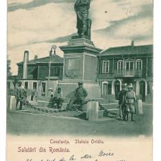 2725 - Litho, Dobrogea, CONSTANTA, statue Ovidiu - old postcard - used - 1900 - Carte Postala Dobrogea pana la 1904
