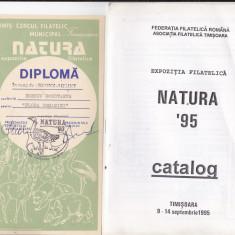 Bnk fil Expozitia filatelica Natura `95 Timisoara