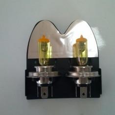 Set bec halogen H1 12V 55W galben, Becuri auto H1