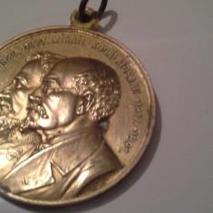 AL IOAN CUZA si M KOGALNICEANU 1911 aurita perfecta ridicarea statuii