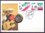 MEXIC 1984 FOTBAL COIN COVER